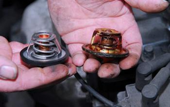 Defecte thermostaat auto